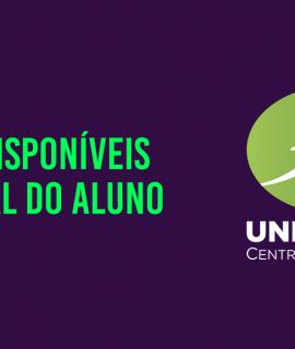 Informação sobre boletos disponíveis na Central do Aluno e prorrogação da data de vencimento