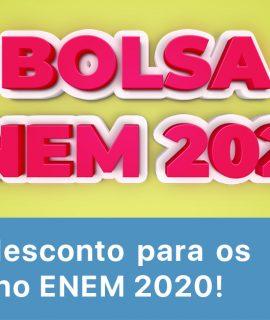 Bolsas de 20% para inscritos no ENEM 2020