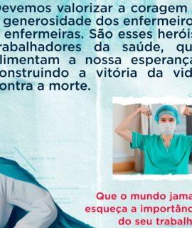 Enfermagem: muito obrigada pela sua importante participação na saúde brasileira!