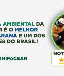 Engenharia ambiental da Unifacear é o melhor curso do Paraná e um dos 6 melhores do Brasil!